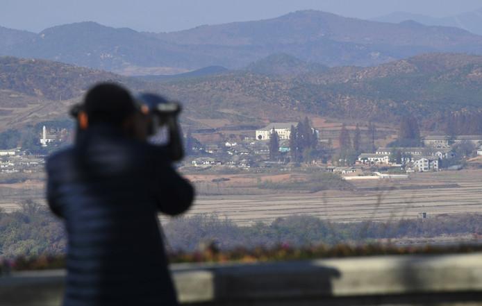 De grens tussen Zuid- en Noord-Korea.