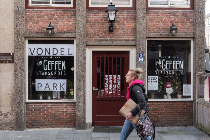 Stadscafe Van Geffen in Tiel heet even Vondelpark