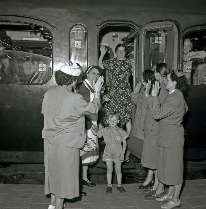 In juni vertrok een groep zieken vanaf station Eindhoven met de trein naar Lourdes