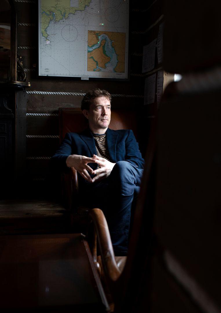 David Mitchell in the Bulman Pub in het Ierse Kinsale. Beeld Eoin O'Conaill