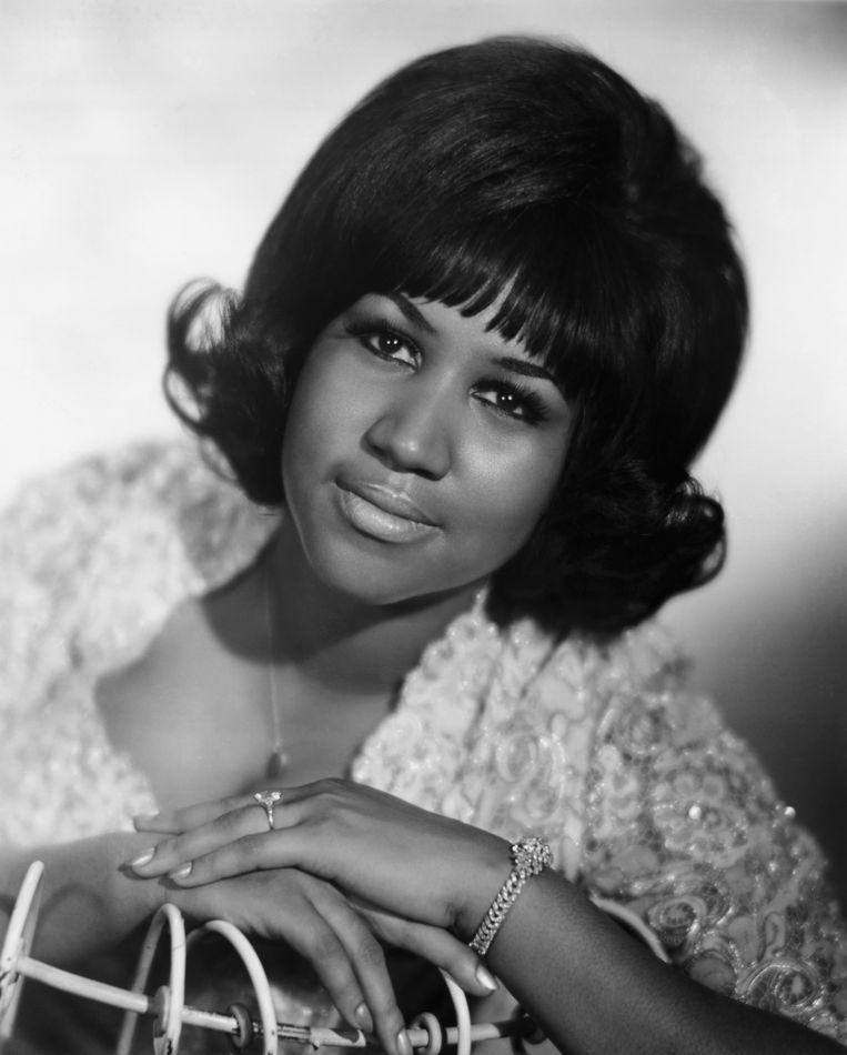 Portret uit de jeugd van Aretha Franklin. Beeld Bettmann Archive