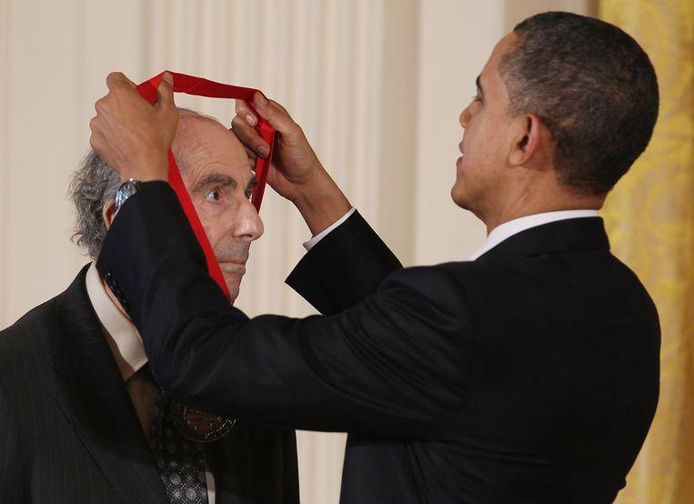 Philip Roth en Barack Obama Beeld Getty Images