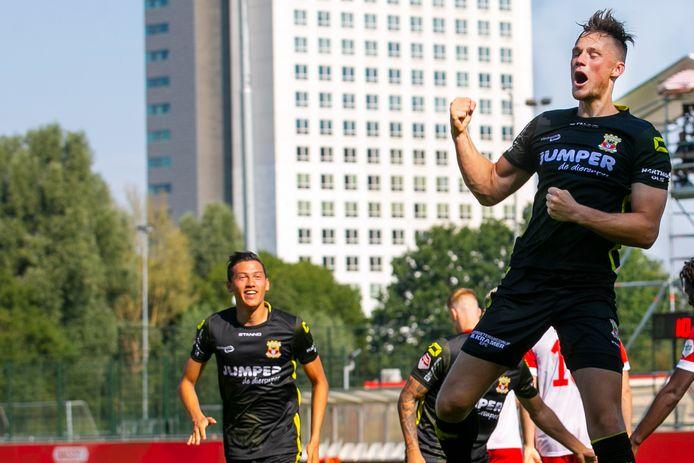 Sam Beukema heeft GA Eagles op 0-1 gezet tegen FC Utrecht.