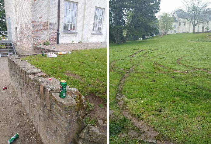 Bezoekers laten in het park geregeld hun 'sporen' achter.