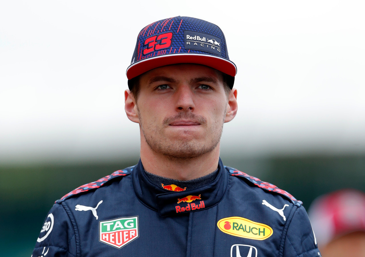 Max Verstappen op Silverstone.