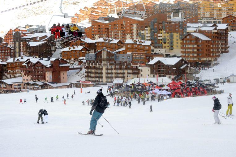 Het Franse skioord Val Thorens.