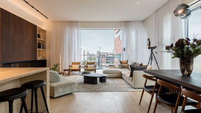 Kijk binnen in deze luxueuze penthouse op het Antwerpse Eilandje met dakterras en zwembad