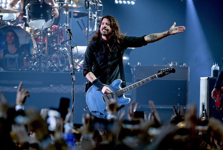 Dave Grohl van de Foo Fighters,  tijdens een concert in 2019 in Atlanta. Beeld Getty