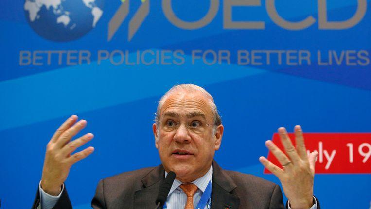 OESO-topman Angel Gurria tijdens een conferentie in juli vorig jaar. Beeld REUTERS