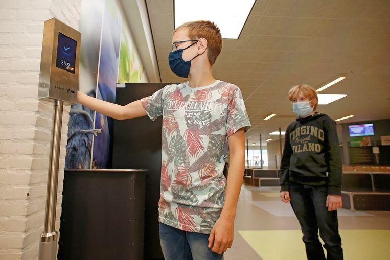 Het Griftlandcollege in Soest waar leraren en leerlingen hun temperatuur moeten meten. Beeld Studio Kastermans/ Ben den Ouden