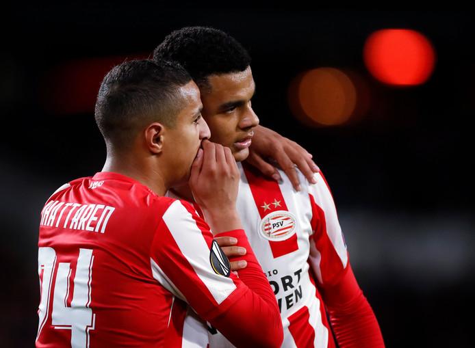 PSV-talenten Ihattaren en Gakpo.