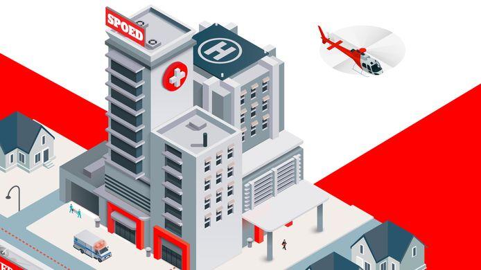 Het ziekenhuis zoals we dat vandaag kennen - met aan de ingang wegwijzers naar alle mogelijke specialisaties - zal in de toekomst niet meer bestaan. Maar hoe zullen ziekenhuizen er dan wel uitzien?