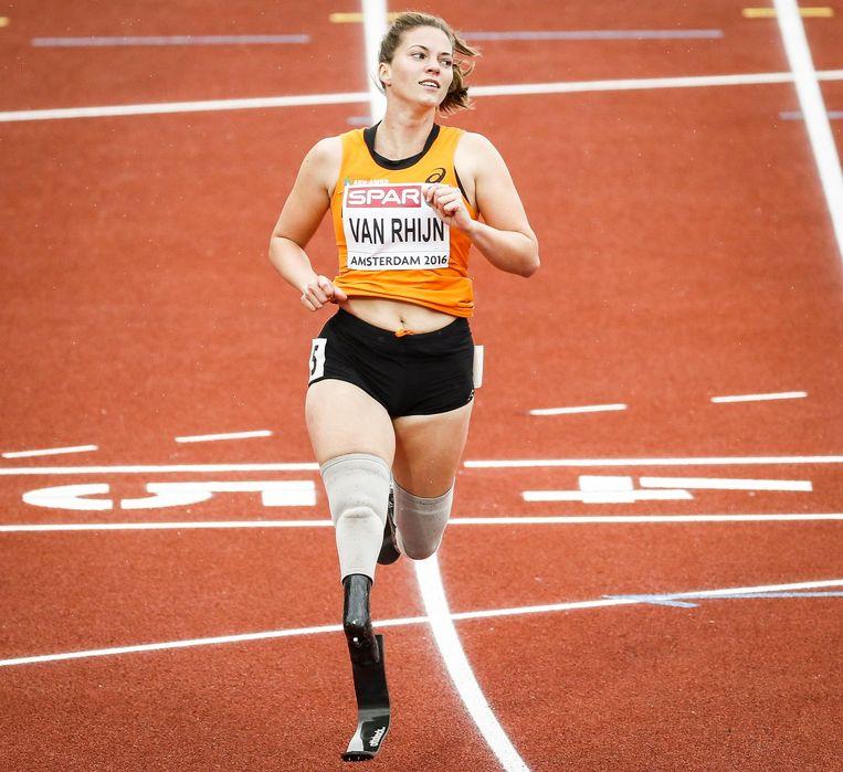 Marlou van Rhijn tijdens het EK Atletiek in Amsterdam. Beeld anp