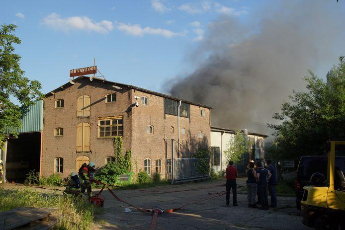 Brand in een loods in Sprang-Capelle