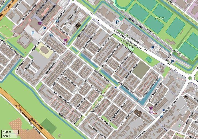 Een 17-jarige jongen uit Den Bosch is op de Boschmeersingel in elkaar geslagen door twee jongens van zijn leeftijd. Hij heeft een gebroken neus en een gescheurde wenkbrauw opgelopen. Bron: Open Street Map