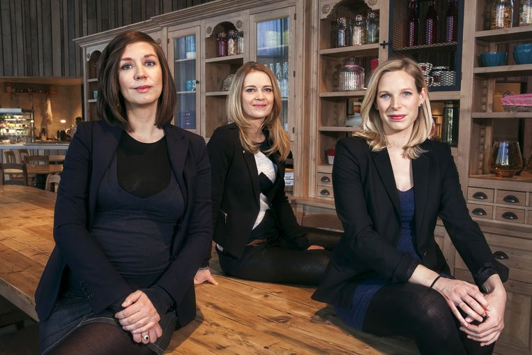 Rosalie Pieters, Elke Pattyn en Julie Colpaert. Beeld Veerle Frissen