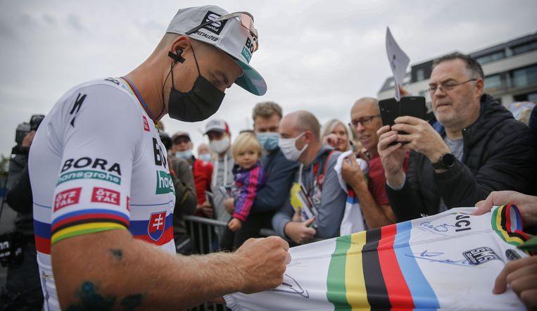 Veel wielerfans adoreren Sagan nog steeds, ook in België. Beeld Photo News