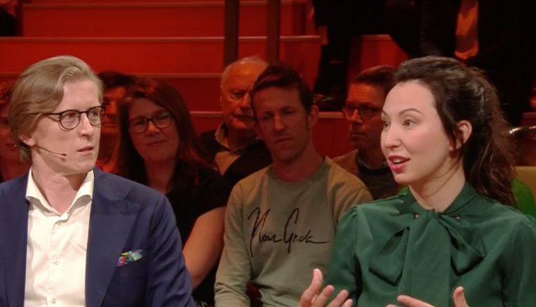 Stijn en Nuria in 'Van Gils & Gasten'