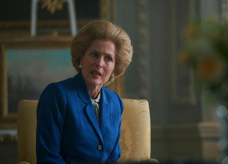 Gillian Anderson won een prijs voor haar rol als Margaret Thatcher. Beeld AP
