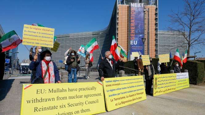 Vijftigtal manifestanten protesteert in Brussel tegen Iraans regime