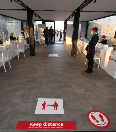 Plus de 7.000 tests réalisés au centre de dépistage de Brussels Airport