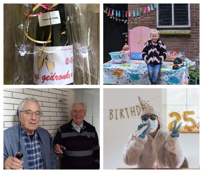 Vier bijzondere verjaardagen in coronatijd in deze regio.