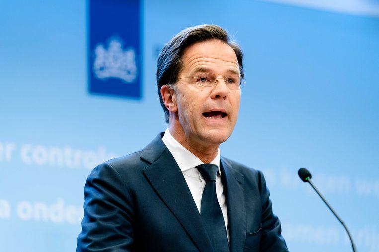 De Nederlandse premier Mark Rutte: 'We staan voor duivelse dilemma's. Elk stapje moet duidelijk zijn.' Beeld ANP
