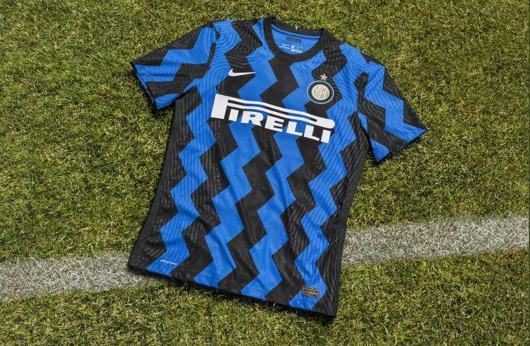 Het nieuwe thuisshirt van Inter.