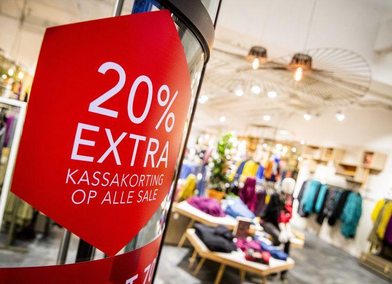 Exterieur van een vestiging van de failliete kledingwinkel Didi. Vooral in de mode- en schoenenbranche gaan voortdurend winkels over de kop. Beeld ANP
