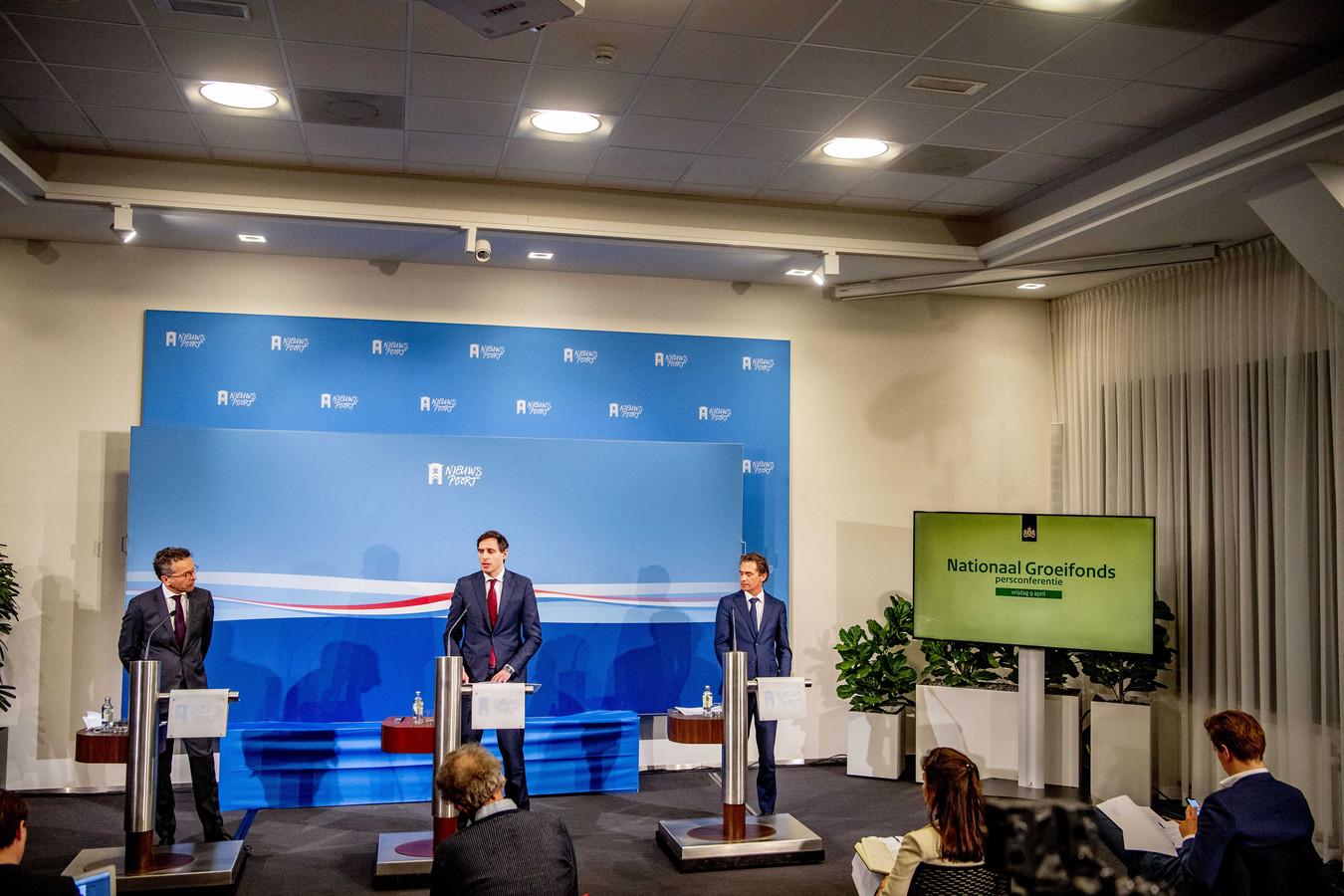 In een persconferentie is bekendgemaakt welke projecten geld krijgen uit het Groeifonds.