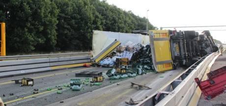 A1 tussen Hengelo en Apeldoorn gaat dinsdagmorgen pas weer open