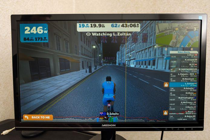 Zwift is een online fiets- en hardlooptrainingsprogramma dat gebruikers in staat stelt te communiceren, te trainen en te concurreren in een virtuele wereld.