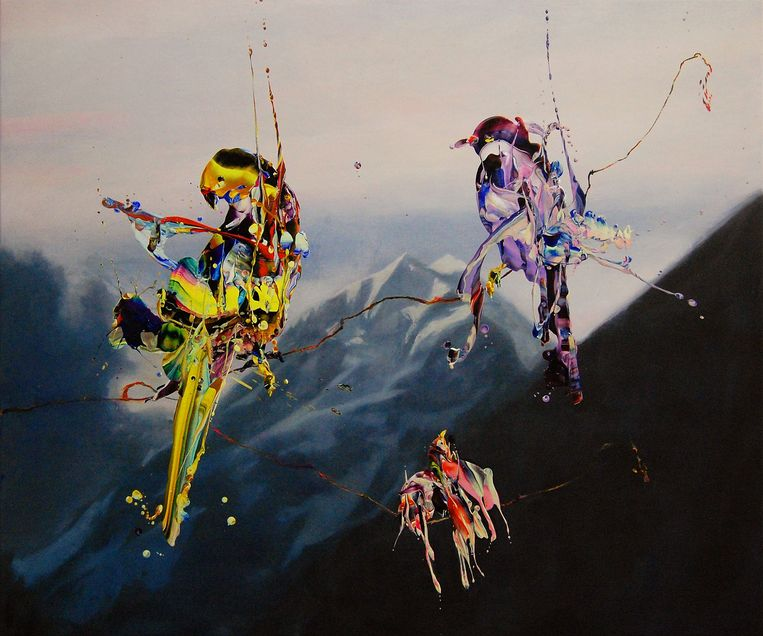 Hidenori Mitsue, Bird's Concert W (2020), Janknegt Gallery. Beeld Gallery viewer