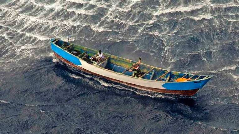 De boot waar Aicha op zat. Beeld EPA