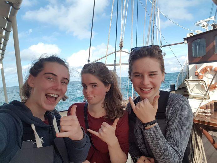 Tijdens de heenreis naar Zuid-Amerika, met een zeilschip.