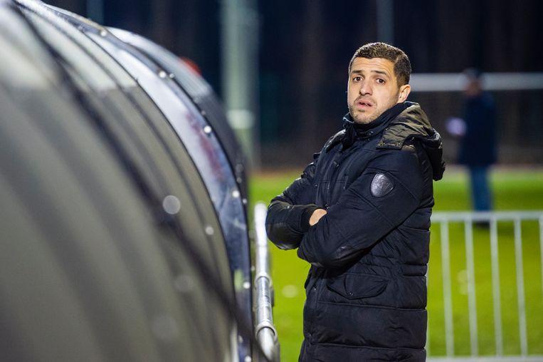 Karim Belhocine woonde de match van de U23 bij.