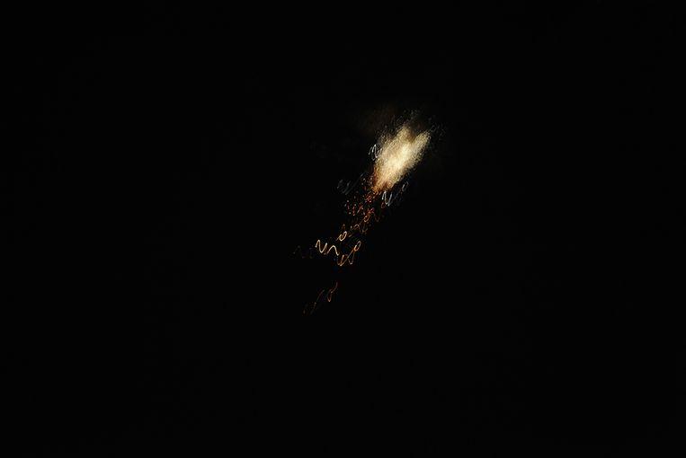 Een volgens een Syrisch persbureau luchtafweergeschut dat een Israëlische raket onderschept (2018). Beeld AFP