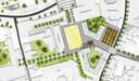 Koningskwartier light, zonder bomen rond centraal plein, zonder groene Paleisring.