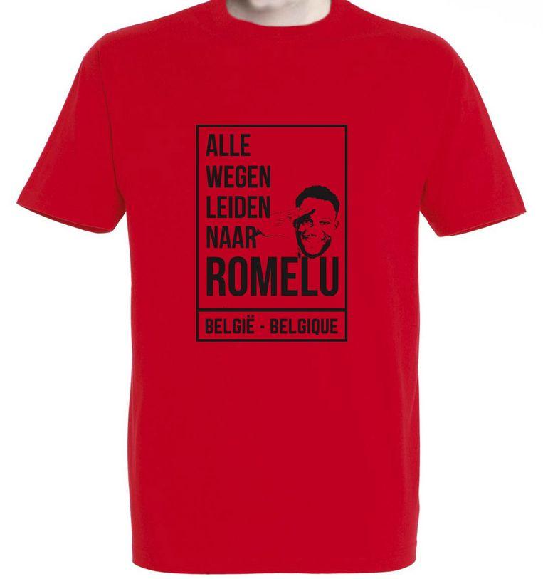 Een voorbeeld van de T-shirts die de cafébazen verkopen.
