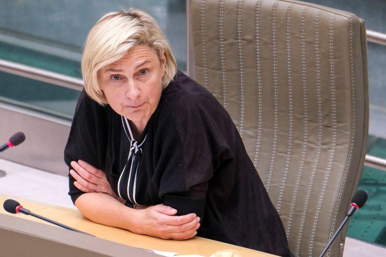 Vlaams minister van Werk, Hilde Crevits (CD&V), is geschrokken van het VDAB-rapport. Beeld BELGA