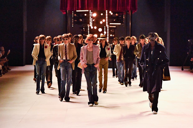 Diversiteit is bij de shows van Celine, hier in juni 2019 in Parijs, al jaren ver te zoeken. Beeld Gamma-Rapho via Getty Images