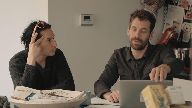 Jonny Polonsky en Otto-Jan Ham in de documentaire over een rockster die maar niet doorbreekt.  Beeld VRT
