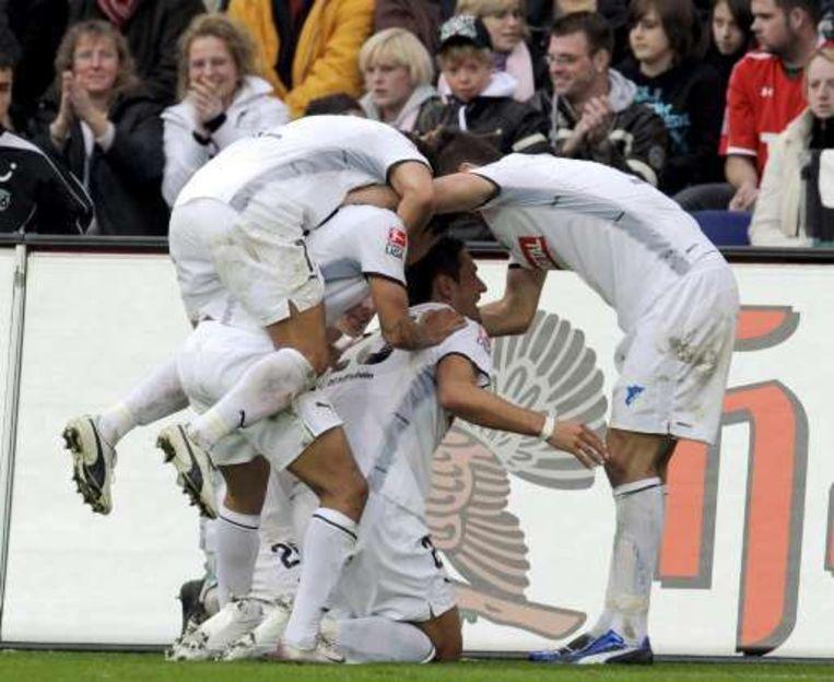 De grote verrassing in deze Bundesliga is wel promovendus Hoffenheim. Beeld UNKNOWN