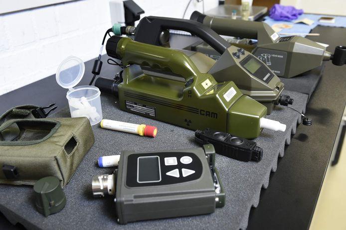 Apparatuur van een team  van OPCW