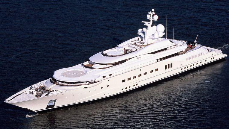 Het superjacht pelorus, dar Abramovich dit jaar verkocht aan David Geffen. Beeld