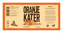 Oranje Kater. 5,5% Hoppy orange white ipa levert het oranjegevoel 'voor wie zich geen pussy voelt'.