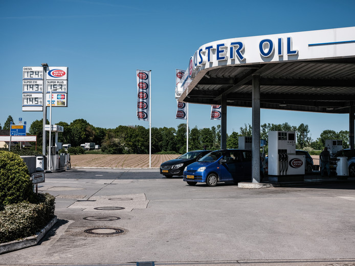 Een tankstation van Kuster Oil in Emmerik.