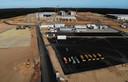 De constructie van de Tesla Gigafactory, beeld van september.