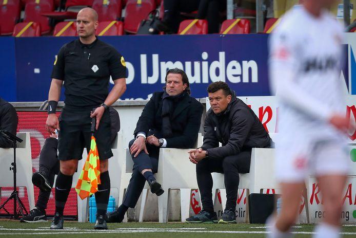 Ernest Faber met een andere PSV-coryfee: Wilfred Bouma (assistent-coach bij Jong PSV en komend seizoen bij PSV onder 18).