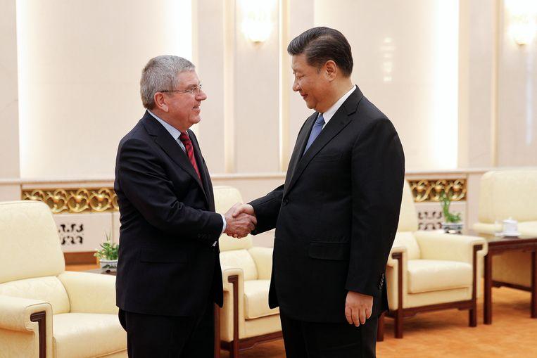 Thomas Bach met Chinees president Xi Jingping.